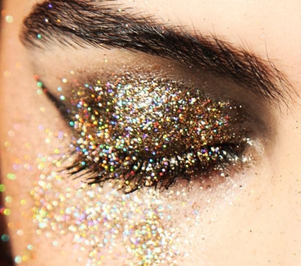 Sparkle eye makeup